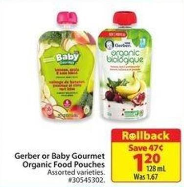 Gerber or Baby Gourmet Organic Food Pouches