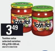 Tostitos Salsa - 416 G/418-430 mL