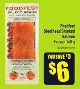 Foodfest Steelhead Smoked Salmon Frozen 140 g