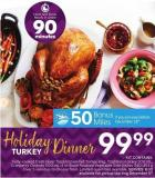 Holiday Dinner - 50 Air Miles Bonus Miles