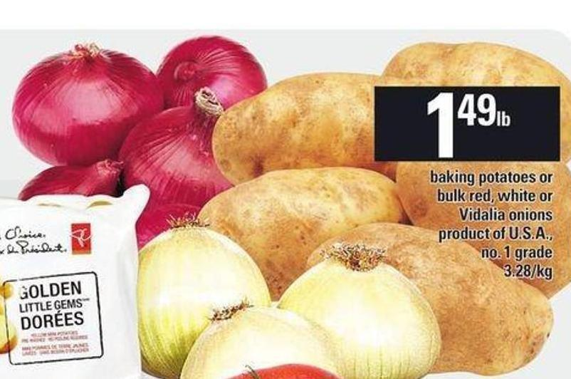 Baking Potatoes Or Bulk Red - White Or Vidalia Onions