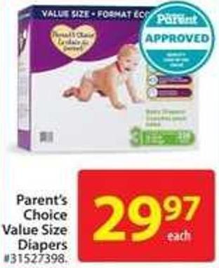 Parent's Choice Value Size Diapers