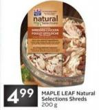 Maple Leaf Natural Selections Shreds
