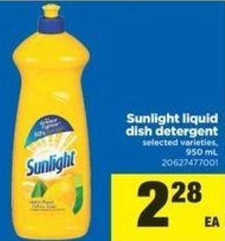 Sunlight Liquid Dish Detergent - 950 Ml