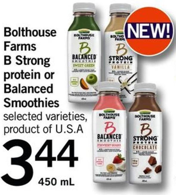 Bolthouse Farms B Strong Protein Or Balanced Smoothies - 450 Ml
