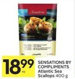 Sensations By Compliments Atlantic Sea Scallops 400 g