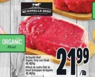 Organic Strip Loin Steak