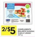 Compliments Balance Imitation Crab or Lobster 227 g