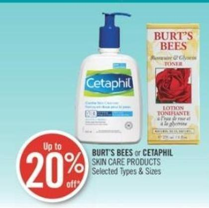 Burt's Bees or Cetaphil Skin Care Products