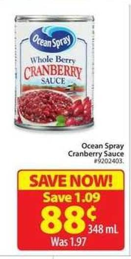 Ocean Spray Cranberry Sauce