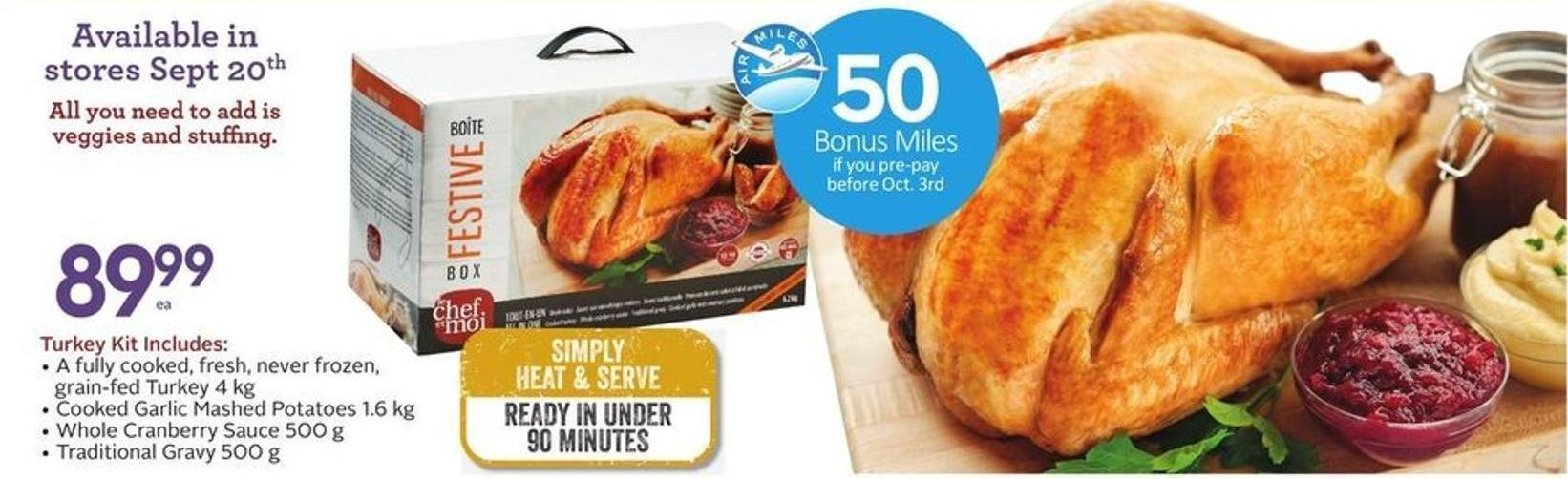 Turkey Kit - 50 Air Miles Bonus Miles