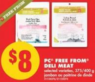 PC Free From Deli Meat - 375/400 g