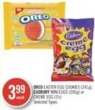 Oreo Easter Egg Cookies (241g) - Cadbury Mini Eggs (200g) or Creme Egg (3's)