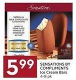 Sensations By Compliments Ice Cream Bars 4-8 Pk