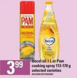 Becel Oil 1 L Or Pam Cooking Spray - 113-170 g