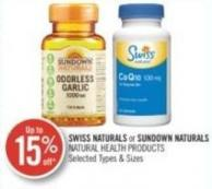 Swiss Naturals or Sundown Naturals Natural Health Products