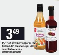 PC Rice Or Wine Vinegar Or PC Splendido 2 Leaf Vinegar 500 Ml