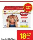 Huggies 16 X Wipes