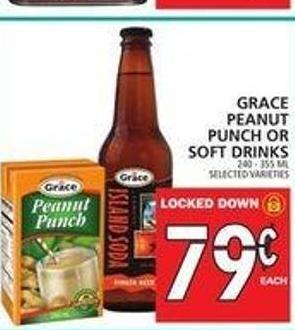 Grace Peanut Punch Or Soft Drinks