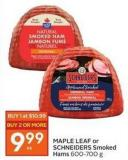 Maple Leaf or Schneiders Smoked Hams 600-700 g