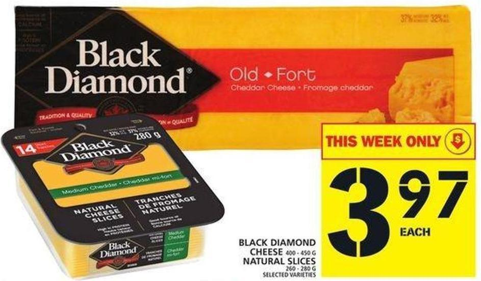 Black Diamond Cheese Or Natural Slices