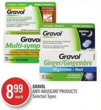 Gravol Anti-nauseant Products