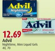 Advil Nighttime - Mini Liquid Gels 40 - 70