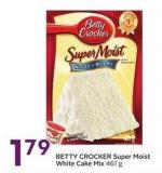 Betty Crocker Super Moist White Cake Mix 461 g