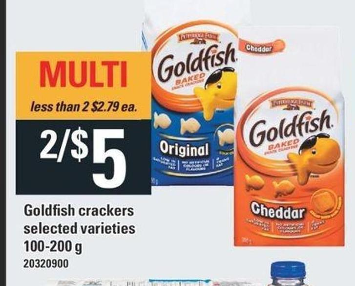 Goldfish Crackers Pepperidge Farm - 100-200 G