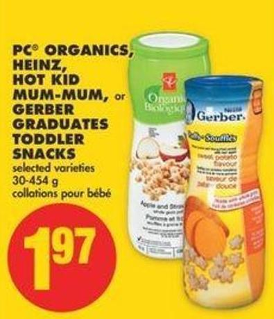 PC Organics - Heinz - Hot Kid Mum-mum - Or Gerber Graduates Toddler Snacks - 30-454 G