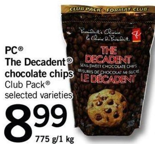 The Decadent Chocolate Chips - 775 G/1 Kg