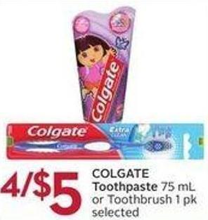 Colgate Toothpaste 75 mL or Toothbrush 1 Pk Selected
