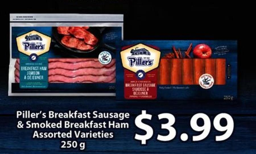 Piller's Breakfast Sausage & Smoked Breakfast Ham - 250 G