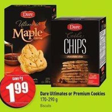Dare Ultimates or Premium Cookies 170-290 g