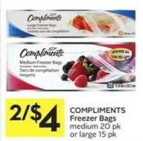 Compliments Freezer Bags