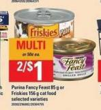 Purina Fancy Feast 85 G Or Friskies - 156 G Cat Food