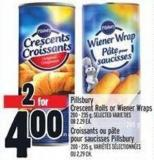 Pillsbury Crescent Rolls Or Wiener Wraps 200 - 235 g