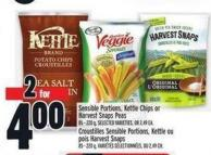 Sensible Portions - Kettle Chips Or Harvest Snaps Peas