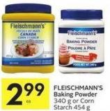 Fleischmann's Baking Powder 340 g or Corn Starch 454 g