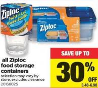 All Ziploc Food Storage Containers