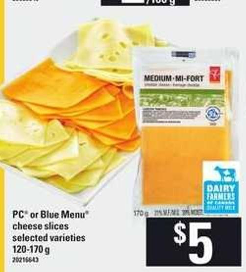 PC Or Blue Menu Cheese Slices - 120-170 g