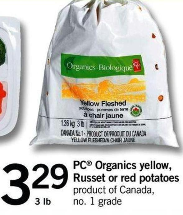 PC Organics Yellow - Russet Or Red Potatoes - 3 Lb