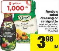 Renée's Salad Dressing Or Vinaigrette - 350-355 Ml