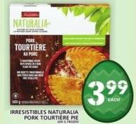 Irresistibles Naturalia Pork Tourtière Pie