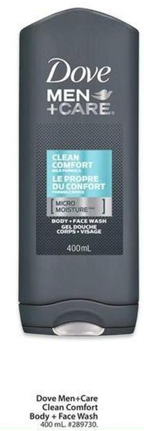 Dove Men+careclean Comfort Body + Face Wash