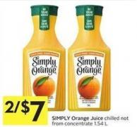 Simply Orange Juice Chilled Not From Concentrate 1.54 L