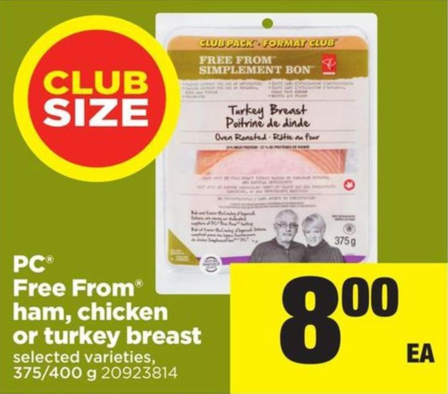 PC Free From Ham - Chicken Or Turkey Breast - 375/400 G