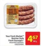 Your Fresh Market Butcher Style Fresh Sausages