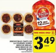 Irresistibles Tarts Or Burger Buns