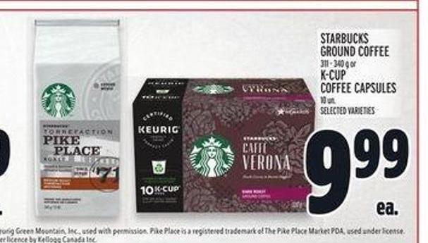 Starbucks Ground Coffee 311 - 340 g or K-cup Coffee Capsules 10 Un.
